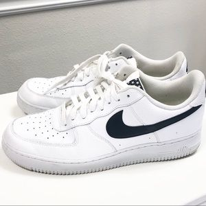 Nike | Air Force One White With Black Swoosh